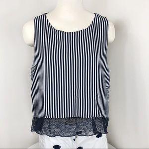 Zara Basic top sleeveless striped Size Medium